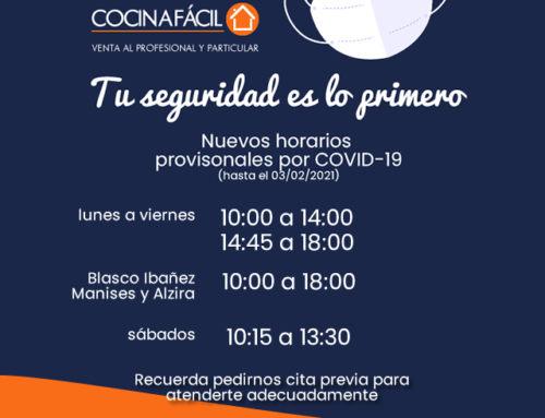 Nuevos horarios por COVID-19